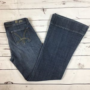 Kut from the Koth Flare Leg Cuff Jean #61952 sz 8